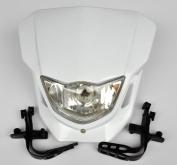 White Dirt bike Motorcycle Universal Vision Headlight Street Fighter headlamp CQR