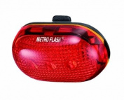 "MetroFlash Blinky ""12.7cm 5-Led Rear Bicycle Light"
