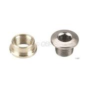 Sugino Single Chainring Bolt Set/5 Chromed Steel