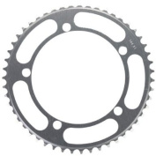 Rocket Alloy Chainring 144mm, 5 Bolt 51T Silver 1/8 Track Pitch