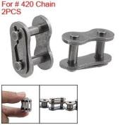 2 Pcs 420 Chain Master Link 50cc 90cc Pit Bike Connector