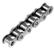 Roller chain similar to DIN 8187 06 B-1 NP pitch 1cm x 0.6cm nickel-plated