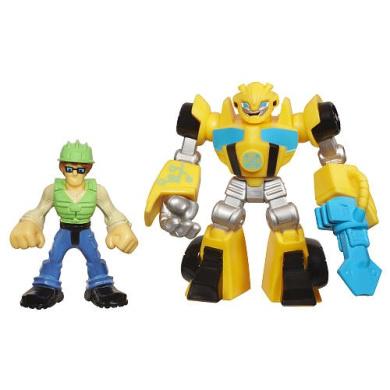 Playskool Heroes Transformers Rescue Bots Energise Figures - Bumblebee and Graham Burns