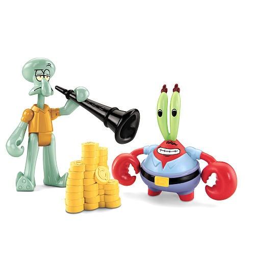 Imaginext, SpongeBob SquarePants Exclusive Figures, Mr  Krabs & Squidward,  2