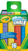 Crayola Chalk Sidewalk, Washable, Assorted Colours, 16 ct