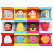 Safety 1st Cubikals Stack 'n Play 12-Block Set - School