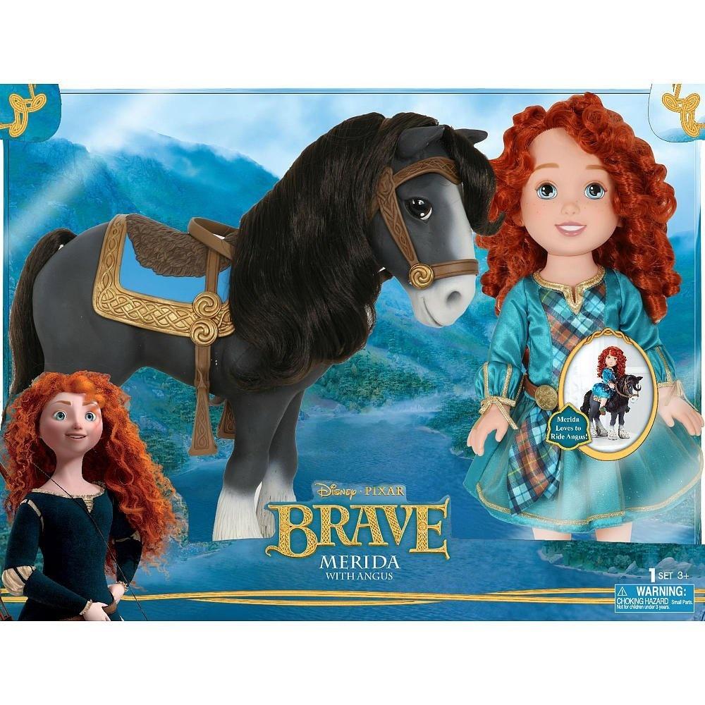 disney pixar brave merida with angus doll - forest adventure