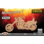 3-D Wooden Puzzle -Motorcycle 1 -Affordable Gift for your Little One! Item #DPUZ-1215