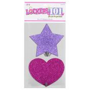 Lockers 101 Magnetic Hook Set - Purple Star/Pink Heart