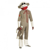 Disguise 198605 Sock Monkey Adult Costume - Brown - X-Large - 42-46