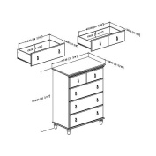South Shore Moonlight Collection 4-Drawer Chest, Pure White