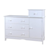Baby Mile Molly Combo Dresser - White