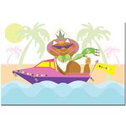 Trademark Games Pretty Kitty Princess in Boat 16x24 Canvas