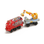 Tomy Chuggington Wooden Railway Magnetic Wilson with Crane Car