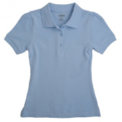 French Toast Short Sleeve Stretch Pique Polo - Blue