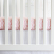 Oliver B Diamond Crib Sheet - Powder Pink/White