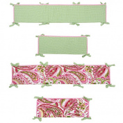 Paisley Splash Crib Bumper - Pink