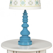 Living Textiles Lolli Living Lamp Base - Teal Spindle