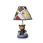 Kids Line Oxford Bear Lamp Base and Shade