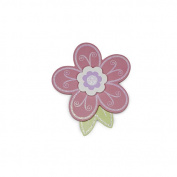 BabyShop By Design Pink Flower Wood Wall Decor