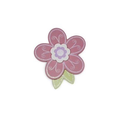 BabyShop By Design Pink Flower Wood Wall Decor