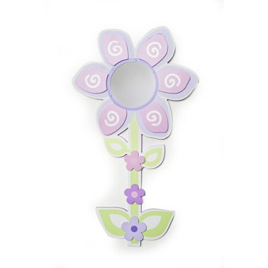 BabyShop By Design Metallic Mirror - Flower