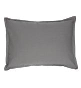 Organic Boudoir Pillow - Solid Grey