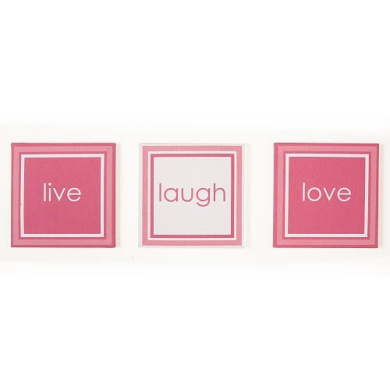 One Grace Place 10-18hp044 Simplicity Hot Pink Canvas Art
