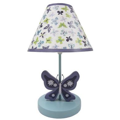 NoJo Beautiful Butterfly Lamp & Shade