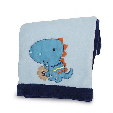 Dino Sports Embroidered Boa Blanket