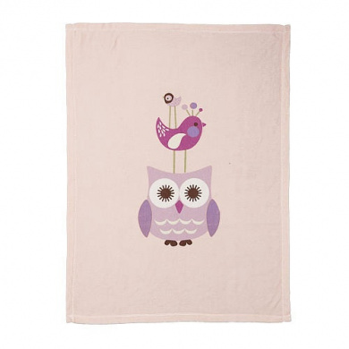 Living Textiles Lolli Living Poppy Seed Boa Blanket - Whimsy Pink Bird