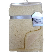 Berkshire Baby Gallery Collection Diamond Knit Reverse To Berber Baby Blanket - Cream