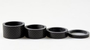 "CARBON fibre BIKJRFOTO Bicycle HEADSET SPACERS 1 1/8"" SET STEM Set 5-10-15-20mm 4 pcs By JRFOTO CC01"