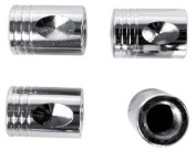 Custom Accessories 16219 Chrome Piston Style Valve Cap