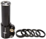 Origin8 X-Tra Lift Stem Riser - 75mm, Black, 1-1/8""