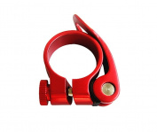 Quick Release Bicycle Bike Seat Post Clamp Collar 31.8mm Red