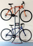 gearup Platinum Steel 2-Bike Gravity Stand, Red/Grey