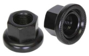 Origin8 Track Hub Axle Nuts - Rear, 10x1mm, Black