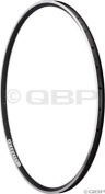 Velocity A-23, 700c, 28h Black/Silver with Machined Sidewall