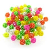 Como Bicycle Spoke Colourful 1.4cm Diameter Beads Decor 80 Pcs