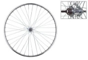Wheel Master 45.7cm x 1.75 Front Bicycle Wheel, 28H, Steel, Bolt On, Silver