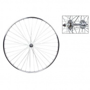 Wheel Front 27 x 1-1/4 Silver, Bolt On, 5/16 Axle Hub, 14g UCP Spokes, 36H