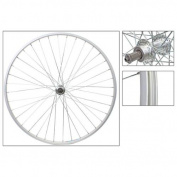 Wheel Rear 700 x 25, WEI-AS23X, QR Alloy FW 5/6/7 spd Silver Hub, 14g UCP spokes, 36H