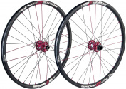 "Spank Spike Race28 Wheel Set MTB - 26"" x 1.75"" Black Rim,"