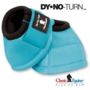 Classic Equine No Turn DL Bell Boots MEDIUM TURQUOISE Horse Dy No Boot