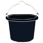 Fortiflex Flat Back Feed Bucket for Dogs/Cats and Small Animals, 7.6l, Black