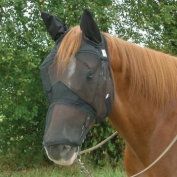 Cashel Quiet Ride Extended Nose Fly Mask w/Ears Ho