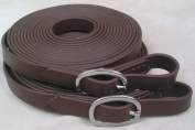 Biothane 20' Driving Lines Single Horse 1.6cm Buckle Brown