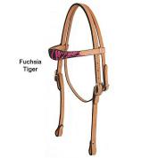 American Saddlery Headstall Fuchsia Tiger