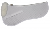 ECP Sheepskin Classic Half Saddle Pad - Large - White